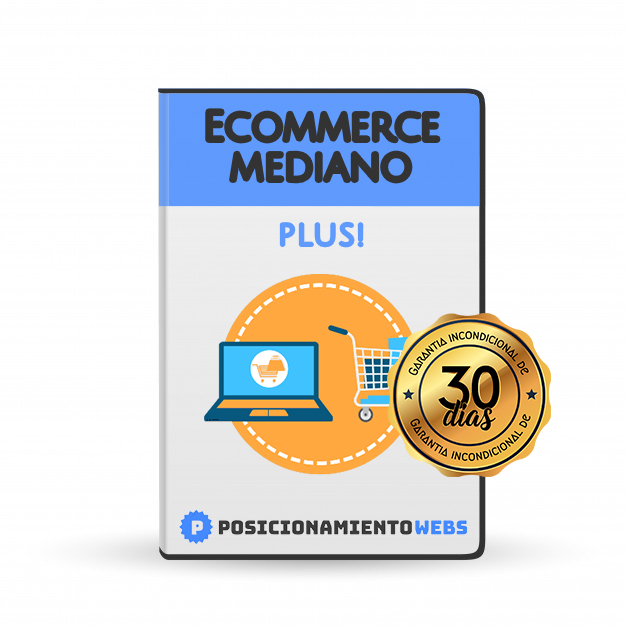 Diseño Web Ecommerce<br> Mediano Plus!